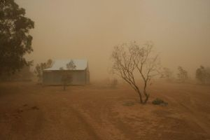 This is a picture of our new house! We live in the middle of the outback with nothing but dust all around. Apparently...